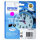 GENUINE EPSON 27XL ALARM CLOCK HIGH CAPACITY MAGENTA INK CARTRIDGE C13T27134010
