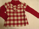 GYMBOREE Penguin Chalet 2T Red Checkered Long Sleeve Cotton Shirt NWT