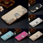 PU Silk Leather Diamond Wallet Flip Magnetic Stand Case Cover for Phone Models