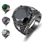 Fashion Women Mens Size 6,7,8,9,10 Amethyst Emerald 18k Gold Filled Wedding Ring