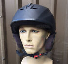 MOD SURPLUS GRADE 1 WHITE ROCK BLACK VULCAN SKI SPORTS SAFETY HELMET,ABS SHELL,