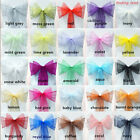 UK Wholesale Organza Sashes Chair Cover Fuller Bow Sash Wider Sash Wedding Party