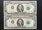 1969A FEDERAL RESERVE NOTE CLEV $100 Dollar bill [2] CONSECUTIVE UNCIRCULATED