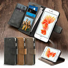 Luxury Retro Leather Flip Stand Wallet Case Cover For iPhone 5 5S SE 6 6s Plus