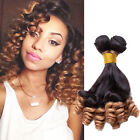 AU Fashion Ombre Funmi Curly Real Human Hair Extension 1b/27# Grade 6A Hair Weft