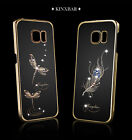 KINGXBAR Dragonfly Swarovski Crystsal Phone Case For Samsung Galaxy S6 Edge Plus