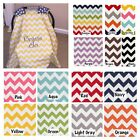 MONOGRAMMED CHEVRON CARSEAT CANOPY (14 Chevrons to choose from)