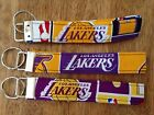 Los Angeles Lakers Fabric Keychains. 3 Different
