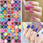 New 24 Colour Mini Bottles Nail Art Bead Caviar Glitter And Powder Decoration UK