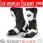 Spyke Rocker Motorcycle Boots Sports Bike Track White Size UK 10 (damaged 2nds)
