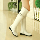 Hot Sale Womens Low Heels Side Zipper Cuffed Over The Knee Riding Boots Shoes SZ