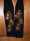 Regular & Plus Size Full-Length Leggings Embellished Holiday Trio of Ornaments