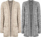 Plus Womens Cable Knitted Long Sleeve Pocket Jacket Top Ladies Cardigan 12-22
