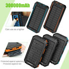300000mAh Cigarette Waterproof Solar Charger 2USB External Battery Power Bank AU