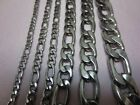 "3/4/5/7/9/10/12 Mm Men's 7-40"" Stainless Steel Silver Figaro Rope Chain Necklace"