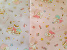 SANRIO My melody and Little Twin Stars / Japanese Fabric 105cm x 50cm