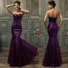 Long Mermaid Bridesmaid Dress Formal EVENING Ball Gown Prom Masquerade Dresses
