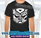 AUTOBOT i love HOUSE MUSIC Tee Transformers Glow In The Dark EDM rave techno