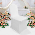 1-100pcs White Flat Arched Front Covers Spandex Lycra Chair Cover Wedding Party