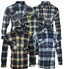 Mens Fleece Thermal Shirt Lumberjack Check Warm Winter Work M L XL 2XL 3XL