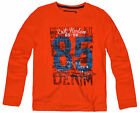Boys Long Sleeved Orange Cotton Rich Printed T Shirt New Kids Tops Age 2-7 Years