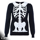IRON FIST 'WISHBONE GIRLY' SWEATSHIRT- black, knit, jumper, skeleton, ribs, goth