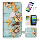 Samsung Galaxy S5 Flip Wallet Case Cover! P1869 Starfish