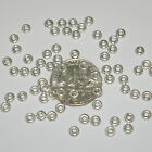 WHOLESALE LOTS 925 Sterling Silver Small 3mm Rondelle Spacer Beads, 1mm Thick