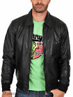 JK318 New mens leather jacket motorcycle black genuine coat size xs s m l xl 2xl
