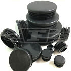ROUND PLASTIC BLACK BLANKING END CAP CAPS TUBE PIPE INSERTS PLUG BUNG STEEL