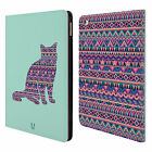 HEAD CASE DESIGNS PATTERNED ANIMAL SILHOUETTES LEATHER BOOK CASE FOR APPLE iPAD