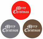 Merry Christmas 38mm stickers - envelope / present seals red gold silver