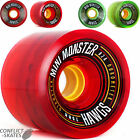"HAWGS ""Mini Monster"" Skateboard Wheels 70mm Longboard 80a or 82a SALE Race Grip"
