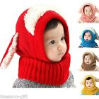 HX Baby Girls Boys Warm Hat Winter Beanie Hooded Scarf Earflap Knitted Cap