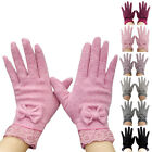 Lady Womens Gloves Soft Winter Warm Gloves Female Outdoor Mittens Butterfly Knot