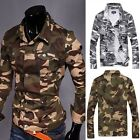 Mens Fashion Camouflage Camo Combat Jacket Outwear Coat Trench Hot Cool! A8930