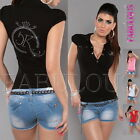New Sexy Women's Polo Top Shirt Casual Party Everyday Wear Size 6 8 10 XS S M