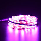 Xmas 1 2 3 5 10M LED Silver Copper Cable Wire Fairy Light String Lamp Cool UKJR