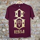 REBEL8 R8 Logo TEE  Casual T-Shirt New -Maroon - Size:S,M.
