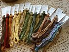 hand dyed embroidery floss PRIMITIVE COLORS, you choose color, 20yds per skein