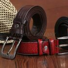 2015 New Vintage Mens Leather Belt Classic Jean Pin Buckle Belts Waistband