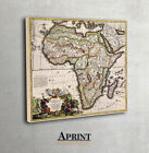 Antique Map of Africa by Johann Baptist Homann, Archival HQ print, Canvas art