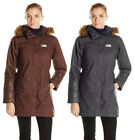 Helly Hansen Women's Plentiful Parka Coat Hooded Jacket, Chocolate & Ebony