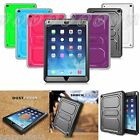 Back Case Cover with Screen Protector Shockproof Defender Bumper For Apple iPad