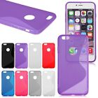 S-Line Soft Rubber Gel TPU Back Case Cover Skin for iPhone 6 Plus 5.5""