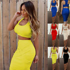 Women Sleeveless Wool Bandage Bodycon Pencil Evening Cocktail Party Dress A