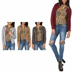 Hidden Fashion Womens Ladies Open Front Long Sleeve Cardigan [Grey_8]