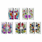 HEAD CASE WATERCOLOURED FLOWERS LEATHER BOOK WALLET CASE FOR APPLE iPHONE PHONES