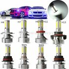 90W 9000LM COB LED Car Headlight Kit Bulb H4 H7 H8/H9/H11 9004 9005 9006 9007