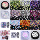Nail Glitter Dust Powder Sequins Sheets Tips Nail Art Manicure 3D Decoration